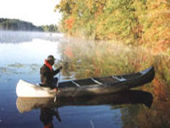 Canoeing on Wells Mills Lake, Waretown