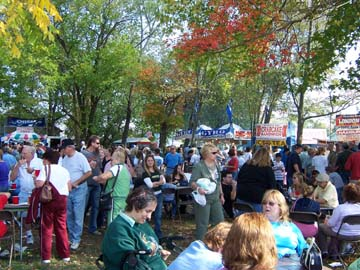 Food court at the Chatsworth Cranberry Festival