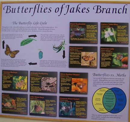 Jakes Branch County Park - displays