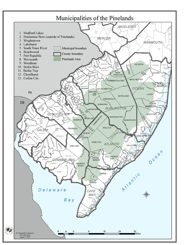 NJ Pine Barrens General Information And Maps - Maps of nj