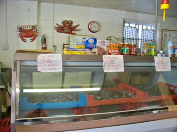 Ahearn's Seafood Market sells clams, crabs, scallops, shrimp, flounder, and more!