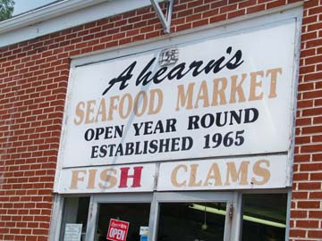 Ahearn's Seafood Market in Waretown, NJ