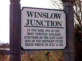Sign at Winslow Junction, NJ